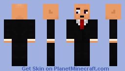 Weird Guy In A Suit Minecraft Skin