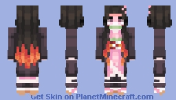 Demon Slayer - Nezuko Kamado Minecraft Skin