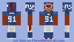 NFL Player- Black Minecraft Skin