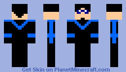 nightwing skin Minecraft Skin