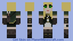 Female Elf Huntress Minecraft Skin