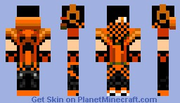 Ninjapenguin1254 Request: Orange Minecraft Skin