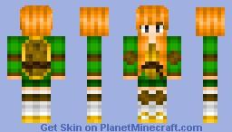 Ninja Turtle Fan Girl Minecraft Skin