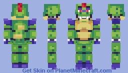 Glamrock Monty (No Glasses) - FNaF: Security Breach Minecraft Skin
