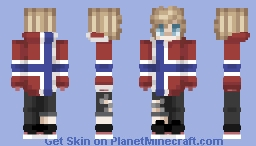 Norway Hoodie Boy Minecraft Skin