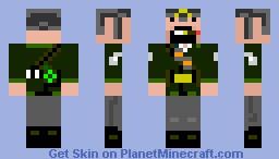 Cammando Notch Minecraft Skin