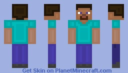 !UNOFFICIAL! Steve skin FOR USE WITH FVDISCO'S oCd TEXTURE PACK Minecraft Skin