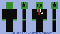 slime in a suit with headphones Minecraft Skin