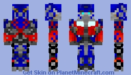 Optimus Prime With Battle Mask (TRANSFORMERS) Minecraft Skin