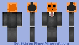 Orange Slime In A Suit||Hd Shading|| Minecraft Skin
