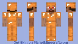 Orange Armor Minecraft Skin