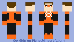 Orange Lantern (Hal Jordan) Minecraft Skin