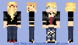 Black Leather Jacket and Jeans Outfit Minecraft Skin