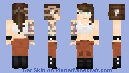 Female Punk Prisoner Minecraft Skin