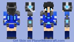 Overlord Aqua@2 v4 (Female version) Minecraft Skin