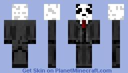 panda in a tuxedo