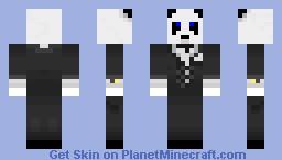 Panda In A Suit Minecraft Skin