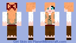 Peasant Girl   3D Bangs   3D Bow   Minecraft Skin