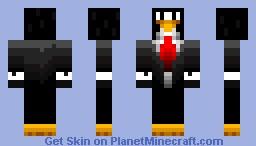 penguin in a tux Minecraft Skin