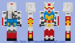PF-78-1 (Perfect Gundam) Minecraft Skin