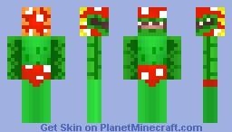 Petey Piranha (3D FEATURES) Minecraft Skin