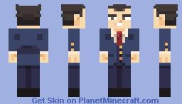 Phoenix Wright Minecraft Skin