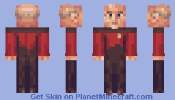 Captain Jean Luc Picard Star Trek TNG Minecraft Skin