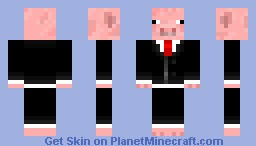 Pig ina Suit Request Minecraft Skin