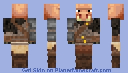 Piglin Warrior Minecraft Skin