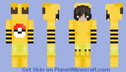 Pikachu Costume Minecraft Skin
