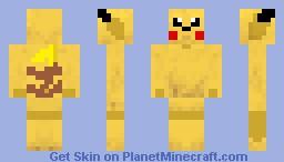 Pikachu Skin Minecraft Skin
