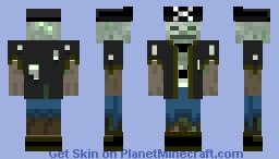 Pirate Drowned Minecraft Skin