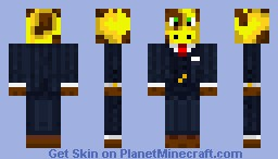 updated giraffe in a suit Minecraft Skin