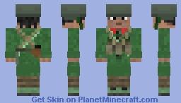 Chinese PLA Soldier (Sino-Vietnamese War) Minecraft Skin