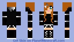 Black Emo Girl Minecraft Skin