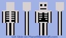 Skeleton steve Minecraft Skin