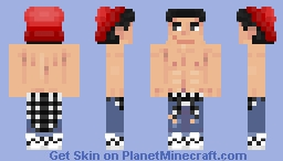 Topless cool guy vers 2 Minecraft Skin