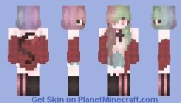 Rainbow girl~! Minecraft Skin