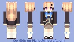 "Azur Lane - USS Eldridge (School Skin / ""The Inquisitive Recluse"") Minecraft Skin"