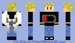 Angel blonde boy with gloves Minecraft Skin