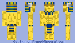 Gold Golem Minecraft Skin