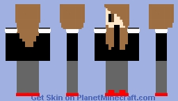 Girl with Brown Hair (no shading) Minecraft Skin