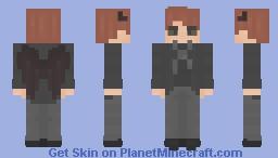 〈 𝓟𝖎𝖈𝓴𝖑𝖊𝕮𝖆𝖙〉 Crowley - w/ Wings  } Good Omens │ David Tennant Minecraft Skin