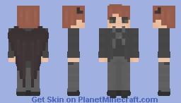 〈 𝓟𝖎𝖈𝓴𝖑𝖊𝕮𝖆𝖙〉 Crowley - w/ THE BIG Wings } Good Omens │ David Tennant Minecraft Skin