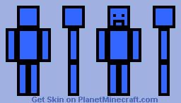 Low effort blue sad man Minecraft Skin