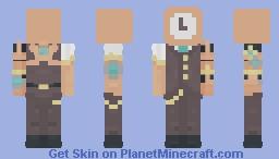 (Steampunk) Gears keep Turning In the Head 〈𝓟𝖎𝖈𝓴𝖑𝖊𝕮𝖆𝖙〉 Minecraft Skin