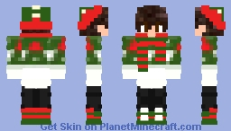 Hot Boy With Christmas Style Minecraft Skin