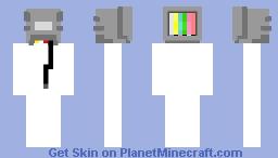 TV Head Base Minecraft Skin