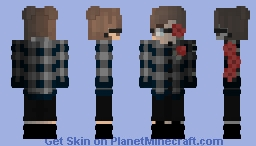 Eboy with roses Minecraft Skin