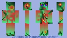 Plant Zombie Minecraft Skin
